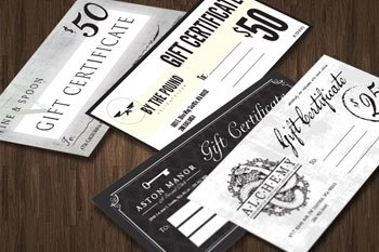 F2T Hospitality Gift Certificates Print Graphic Design