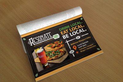 Print Design Resonate Brewery Magazine Ad