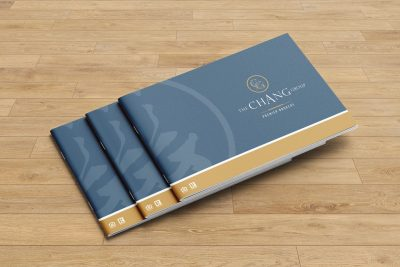 Print Design – The Chang Group Brochure Design