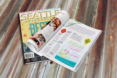 Print Design Beach House Restaurants Magazine Ad