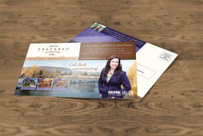 Print Design – Beth Traverso Real Estate Postcard