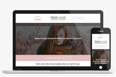 Website Design Brow & Lash