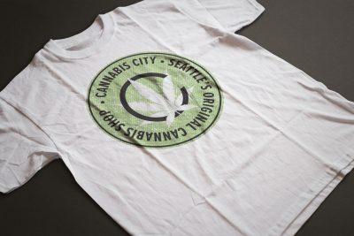 Print Design – Cannabis City Badge T-Shirt Design