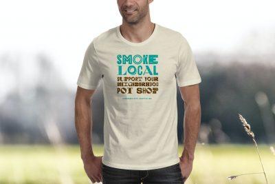 Print Design – Smoke Local T-Shirt Design