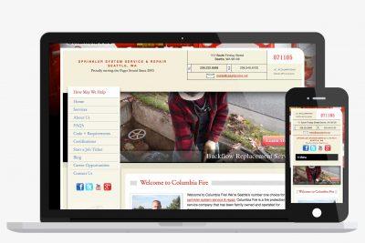 Website Design Columbia Fire
