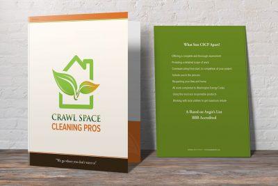 Print Design – Crawl Pros Presentation Folder