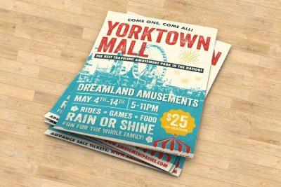 Print Design – Dreamland Amusements Poster Design