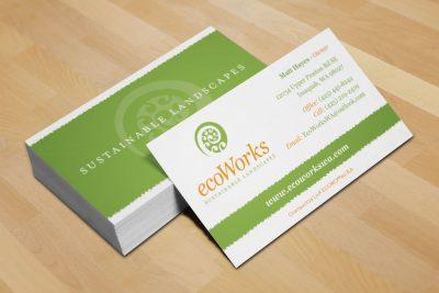 Stationery Design – ecoWorks Business Cards
