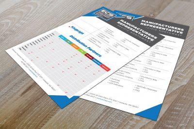 Print Design – Electronic Component Sales Sheet Brochure Design