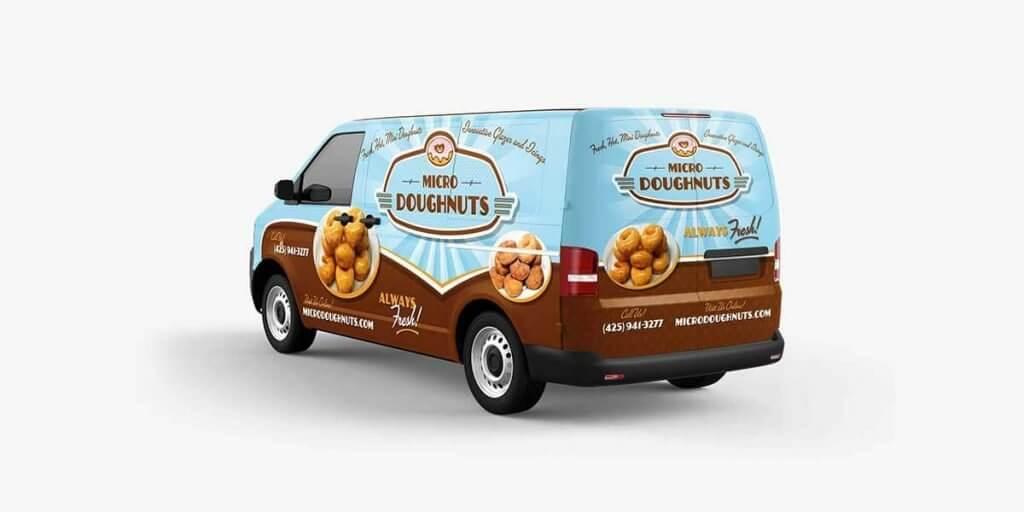 Micro Doughnuts Truck Wrap Design