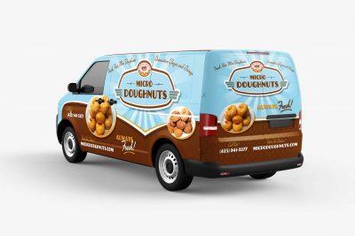 Truck Wraps Design Micro Donuts