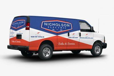 Truck Wraps Design Nicholson Electric