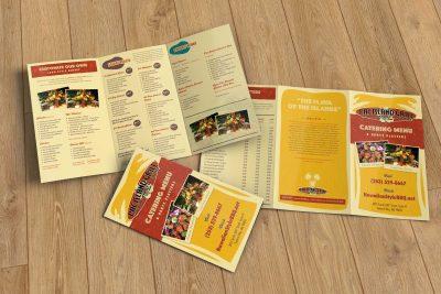 Print Design – Pac Island Grill Tri Fold Menu