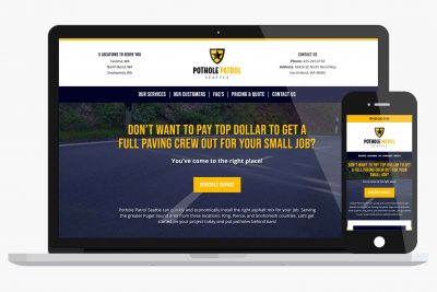 Pothole Patrol Seattle WordPress Website Design