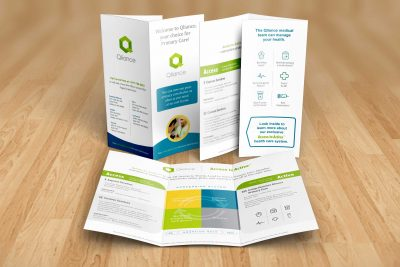 Print Design – Qliance Double Gate Fold Brochure