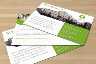 Print Design – Qliance Health Card Postcard 1