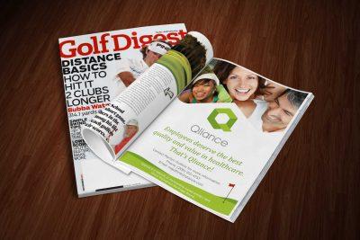 Print Design Qliance Magazine Ad