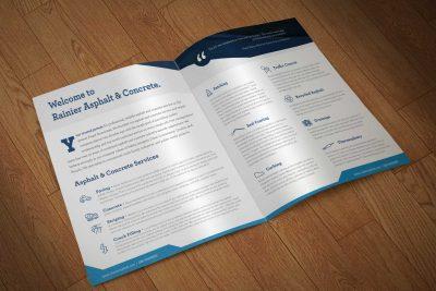 Print Design – Rainier Asphalt & Concrete BiFold Brochure