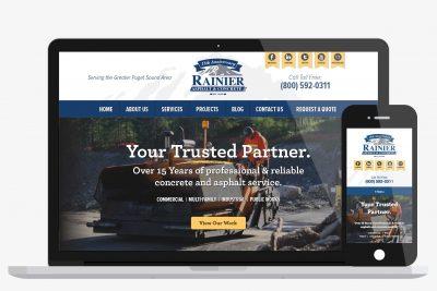 Website Design Rainier Asphalt & Concrete