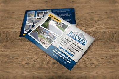 Print Design – Rainier Asphalt Postcard