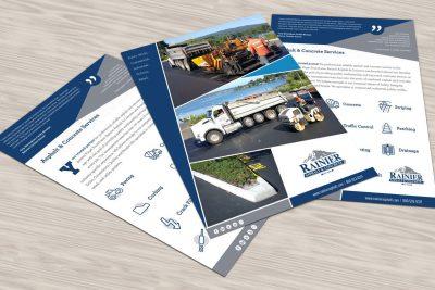 Print Design – Rainier Asphalt & Construction Flyer Design