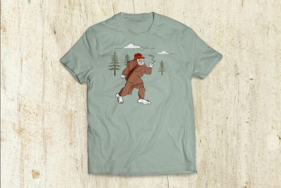 Print Design – Cannabis City Squatch T-Shirt Design