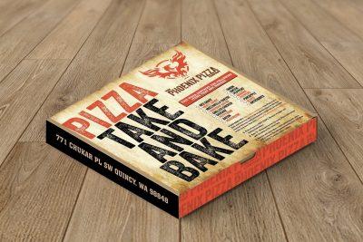 Print Design – The Phoenix Pizza Co. Box Design