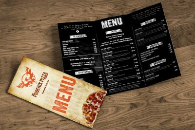 Print Design – The Phoenix Pizza Co. Menu Design