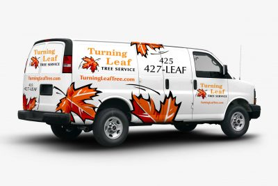 Truck Wraps Design Turning Leaf