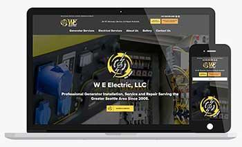Website Content Writing. WE Electric WordPress Website Design.