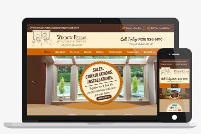 Website Design Window Fellas