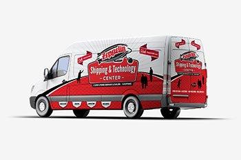 Zeppelin Vehicle Advertising Graphics Design